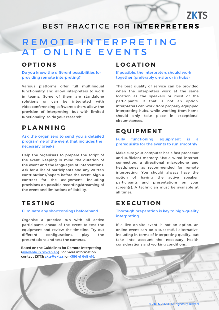 Online events tips for interpreters